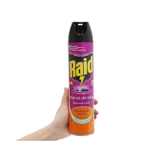 Diệt côn trùng Raid (Hương Lavender) 300ml